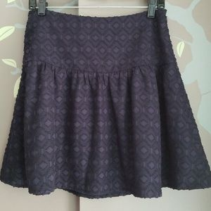 Ann Taylor fit and flare textured skirt